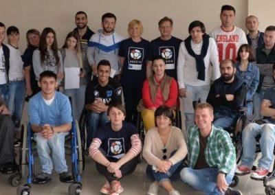Boccia instructors and animators for Georgia 1 - Polska Boccia