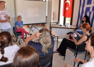 The next day of workshop in Greece 2 - Polska Boccia