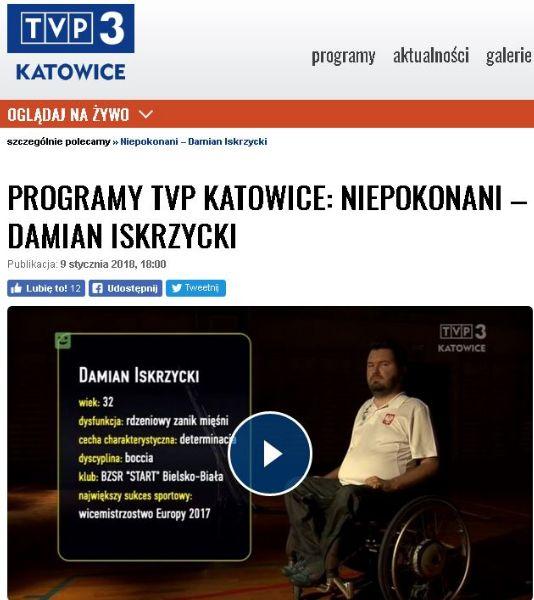 Damian Iskrzycki na szklanym ekranie 1 - Polska Boccia