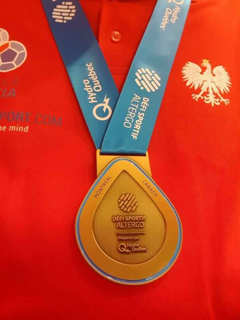 """Historyczny medal """"złotej""""polskiej pary 1 - Polska Boccia"""
