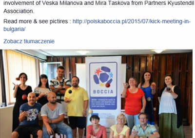 Bulgaria – Kyustendil, 10th-15th of July 2015 2 - Polska Boccia