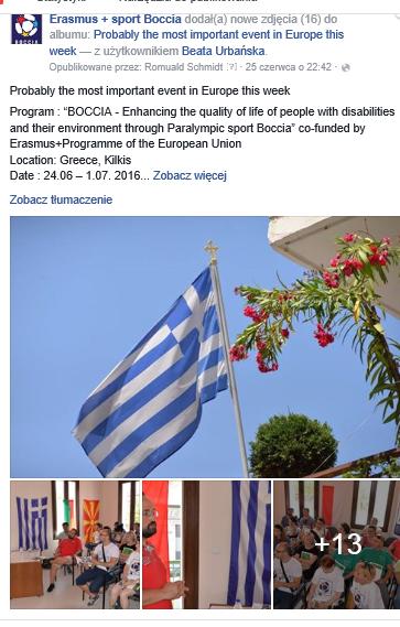 Greece – Kilkis, Pikrolimni, 24th of June to 1st of July 2016 3 - Polska Boccia