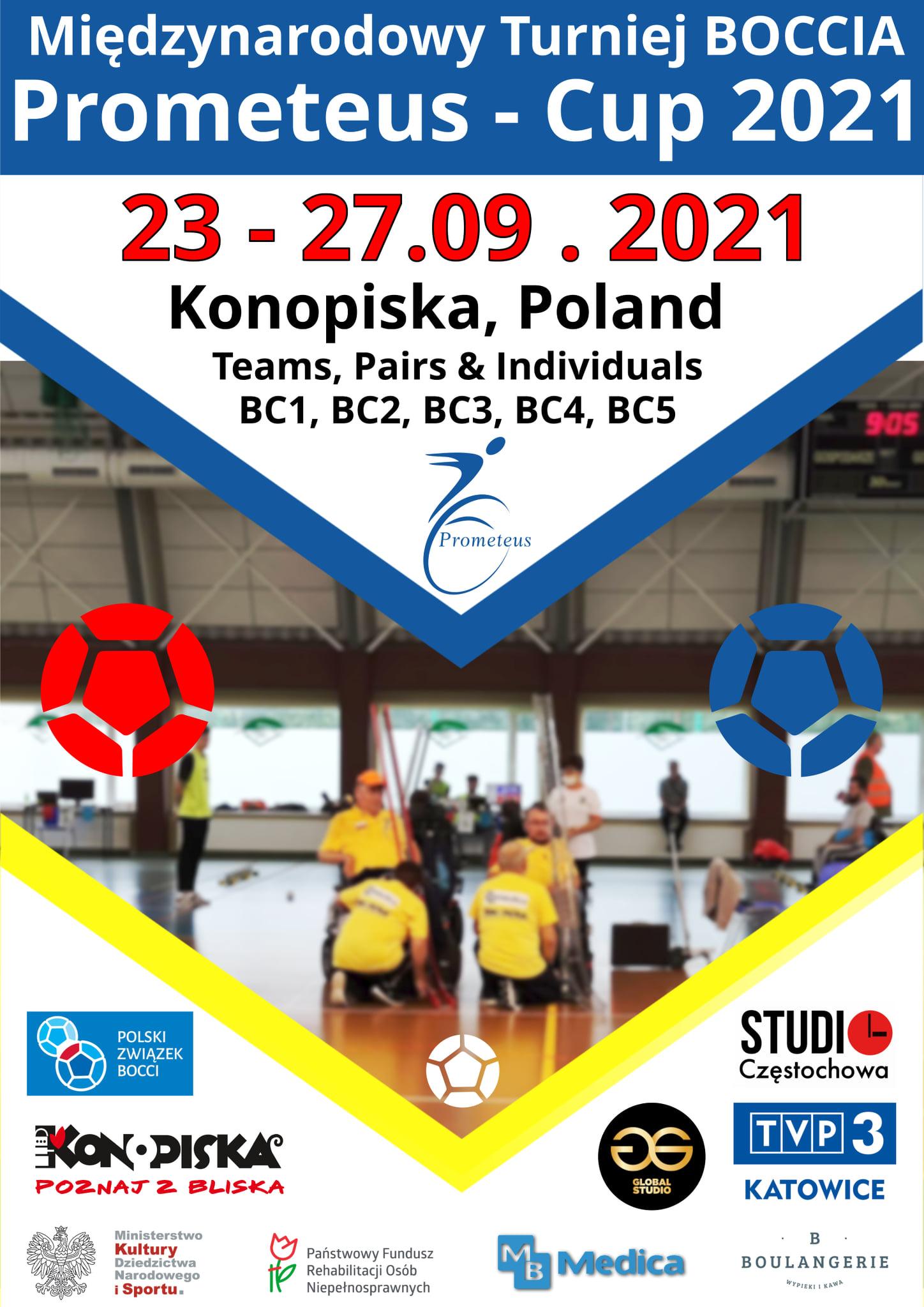 "SERDECZNIE ZAPRASZAM na XI INTERNATIONAL BOCCIA TOURNAMENT ""Prometeus-Cup 2021"" 3 - Polska Boccia"